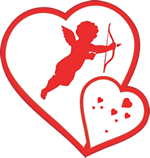 Cupid-and-Two-Hearts150