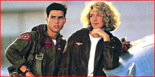 Breathing difficulties … Tom Cruise and Kelly McGillis in Top Gun. Photograph: Sportsphoto/Allstar